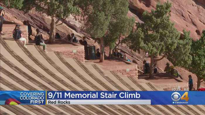 Thousands Join Colorado 9/11 Memorial Stair Climb At Red Rocks