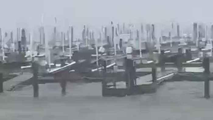Insane Hurricane Dorian footage shows off storm's strength