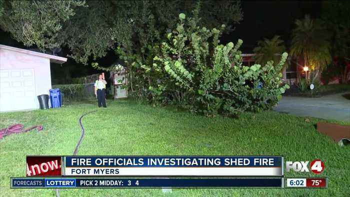 Fire damages shed in Fort Myers early Thursday morning