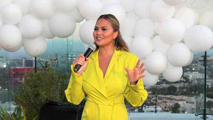 Chrissy Teigen left painfully swollen after breast pump mishap