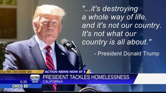 President Trump is looking at ways to intervene in California's mounting homelessness issue.
