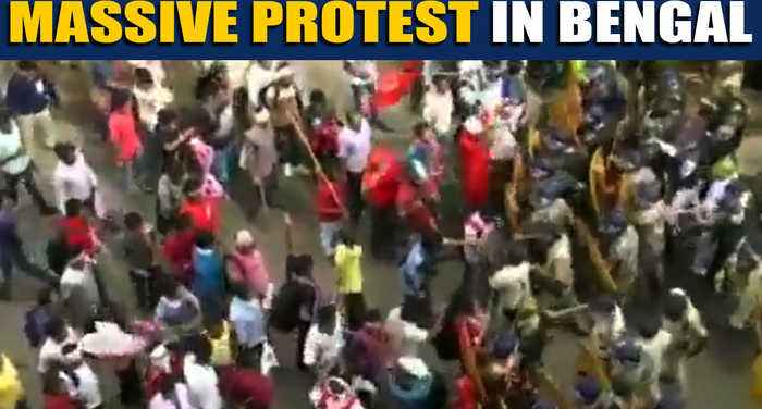 CPI(M) youth wing protests against West Bengal govt