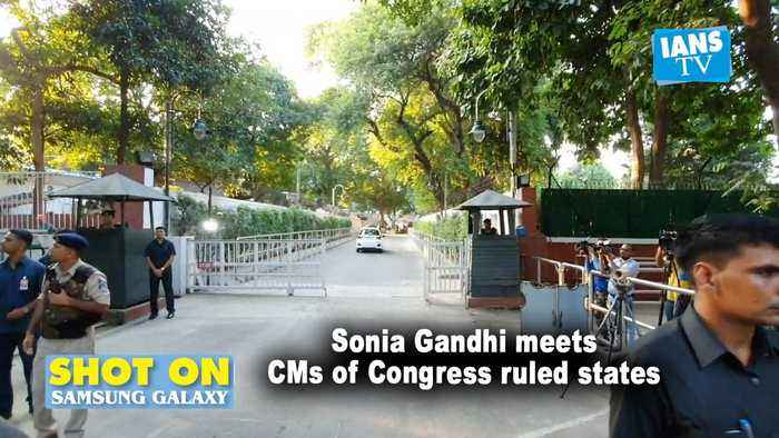 Sonia Gandhi meets CMs of Congress ruled states