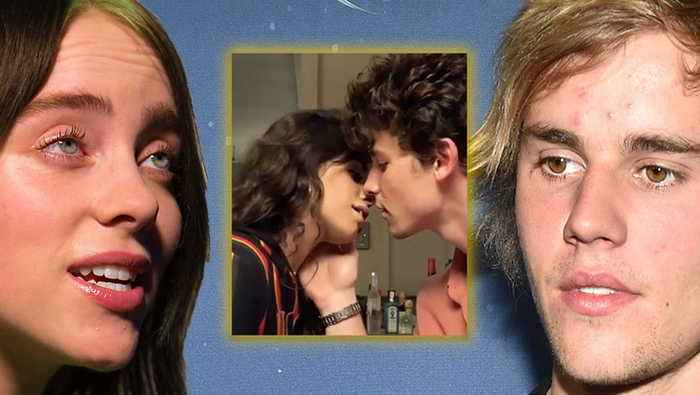 Shawn Mendes & Camila Cabello Kiss Video Gets Reactions From Billie Eilish & Justin Bieber