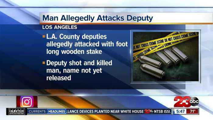 Man allegedly attacks LA County deputies with a stake