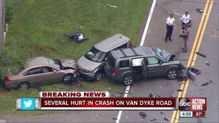 At least 1 person in critical condition after multiple-vehicle crash in Keystone