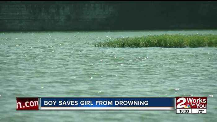 Authorities credit little boy for saving two-year-old from drowning