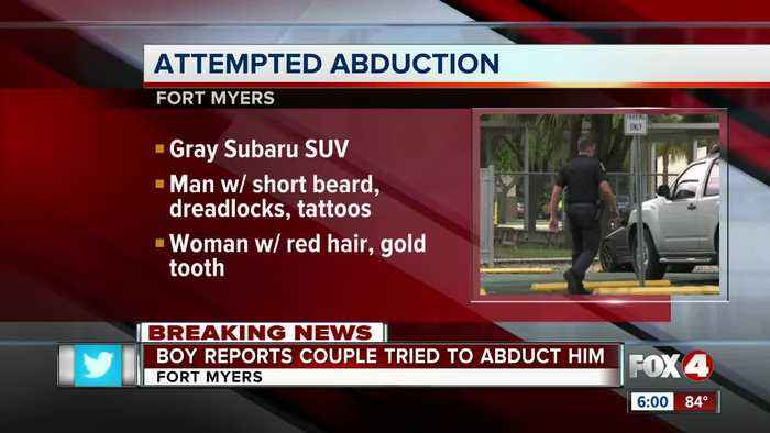 Fort Myers Police are looking for suspects accused of trying to abduct boy