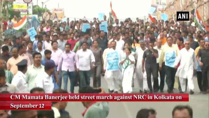CM Mamata Banerjee leads protest march in Kolkata against NRC