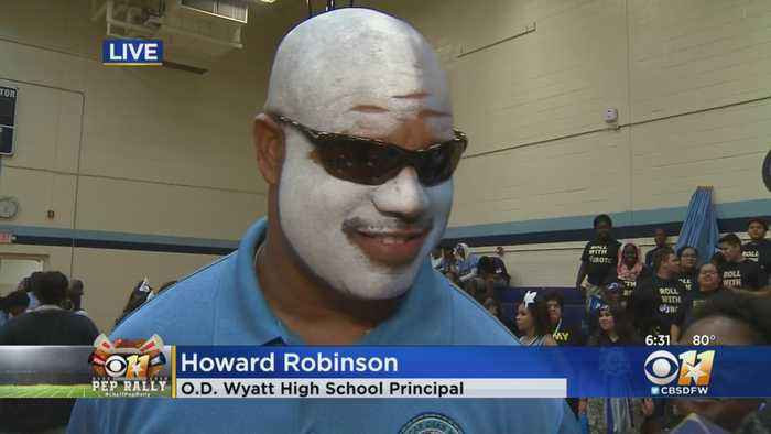 CBS 11 Pep Rally: O.D. Wyatt High School Principal Howard Robinson