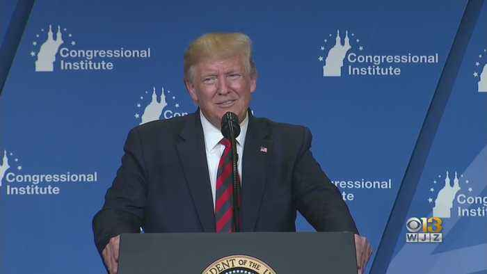 President Trump Met With Protests, Support In Baltimore