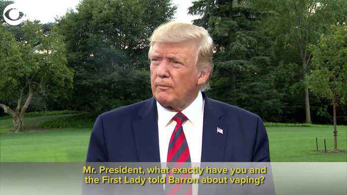 WEB EXTRA: Trump On Vaping And Barron
