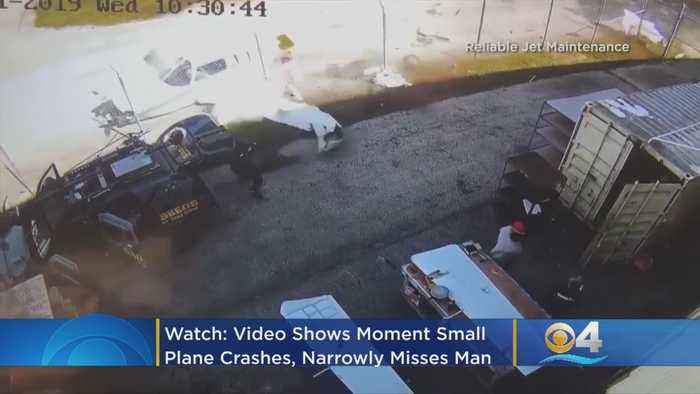 WATCH: Video Shows Moment Small Plane Crashes, Narrowly Misses Man, At Boca Raton Airport