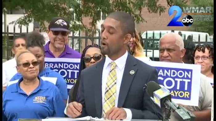 City Council President Brandon Scott announces run for Mayor of Baltimore
