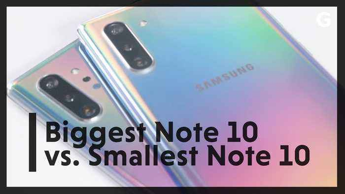 What's Different Between Samsung's Biggest and Smallest Galaxy Note 10?