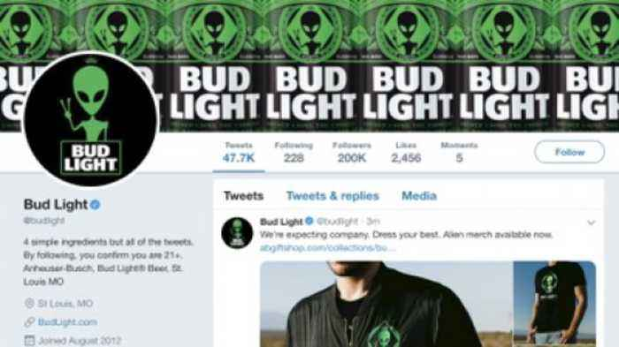 Bud Light Goes Intergalactic, Unveils Area-51-Themed Alien Beer Cans