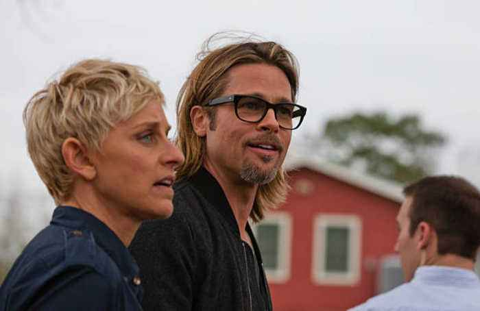 Brad Pitt shares an ex with Ellen DeGeneres