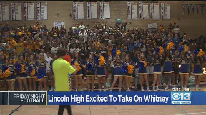 Lincoln High Gets Pumped For Game Against Whitney