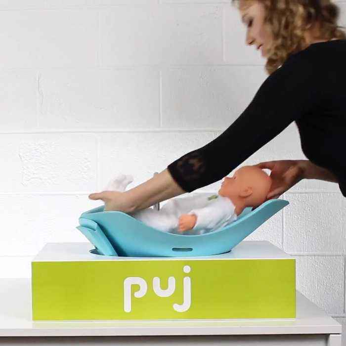 This is a compact baby bath you can take anywhere