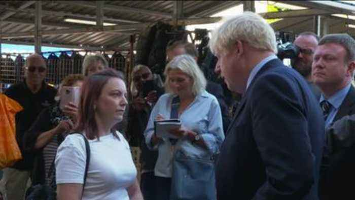 Boris Johnson told to sort out Brexit 'mess' by heckler