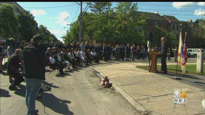 Square Dedicated To Leonel Rondon, 1 Year After Merrimack Valley Gas Explosions