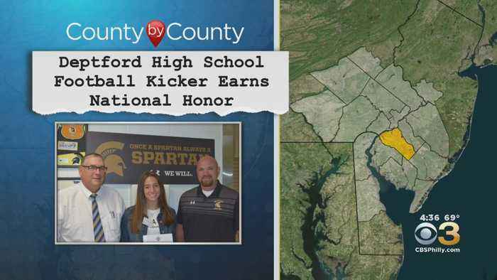Deptford High School Football Kicker Earns National Honor