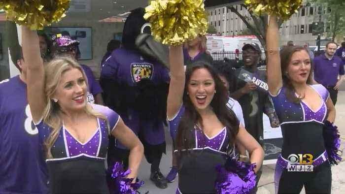 Pep Rally Held Ahead Of Ravens' Home Opener Against Arizona Cardinals