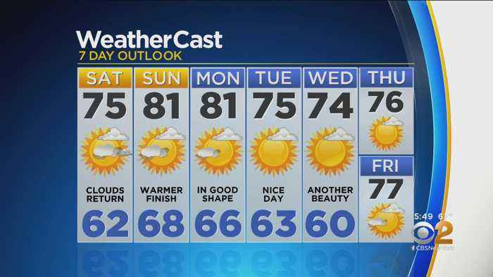New York Weather: CBS2 9/13 Evening Forecast at 5PM