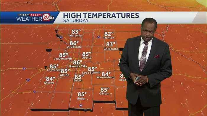 Saturday will be warmer