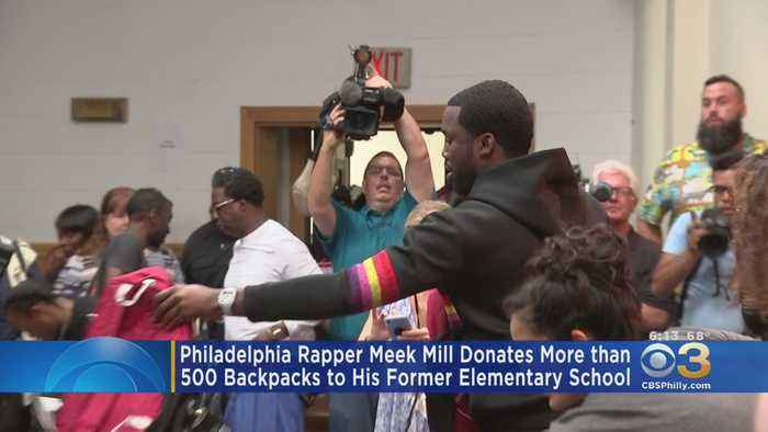 Meek Mill Donates More Than 500 Backpacks To Students At His Former Elementary School