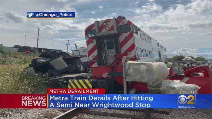 SouthWest Service Metra Train Derails After Striking Semi Truck; Service Halted