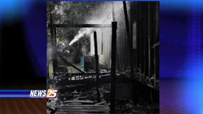 Mobile home fire in Harrison County