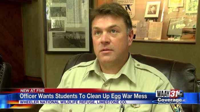 Egg War At Wildlife Refuge