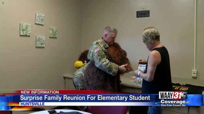 Surprise Family Reunion For Elementary Student