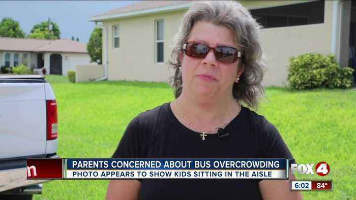 Parents say students sitting on floor of bus