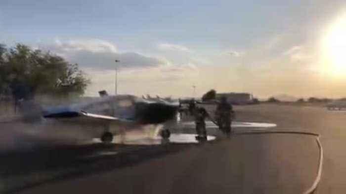 Small aircraft catches fire at Marana Regional Airport