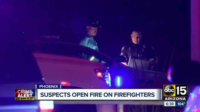 Police looking for two suspects who shot at Phoenix firefighters