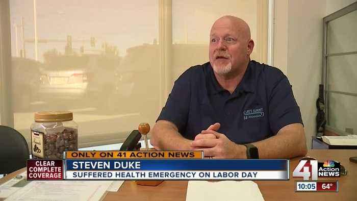 Stranger helps save local man's life