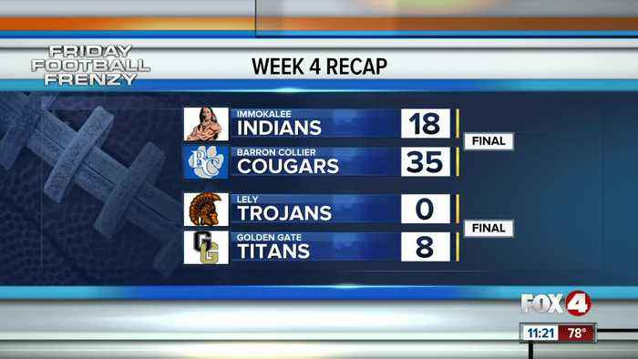 Highschool Football week 4 scores