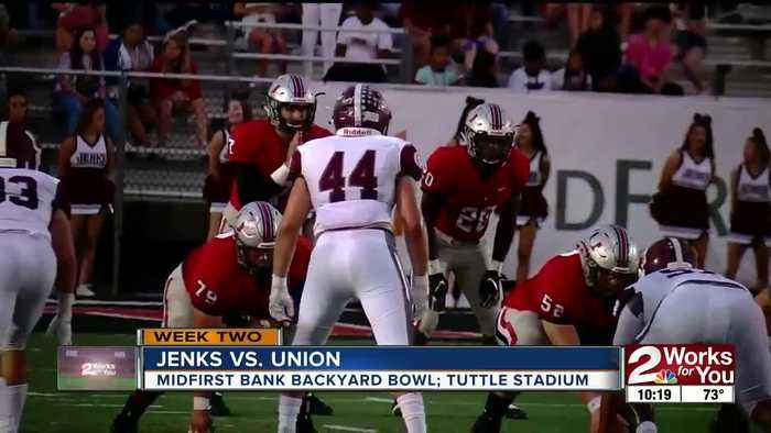 Union Beats Jenks 35-20