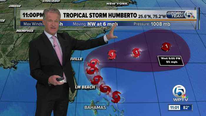 Steve Weagle has the 11 p.m. advisory for Humberto