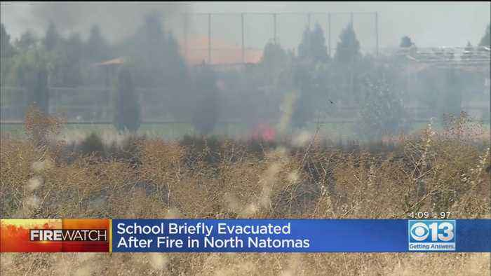 School Evacuated After North Natomas Grass Fire