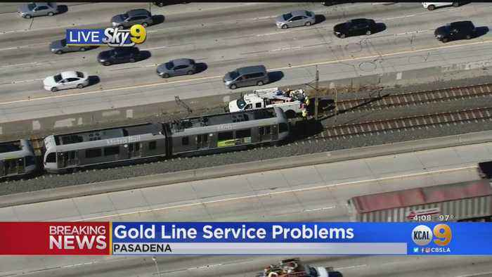 Metro Gold Line Down In Pasadena Due To Power Issue