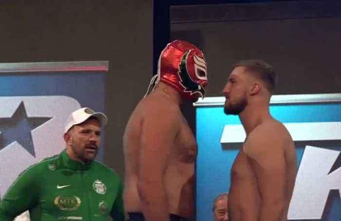 Tyson Fury and Otto Wallin make weight for their heavyweight showdown