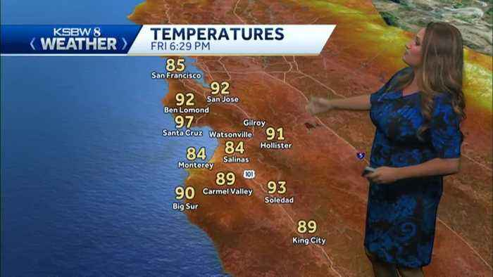 Not as hot Saturday but still warm to hot