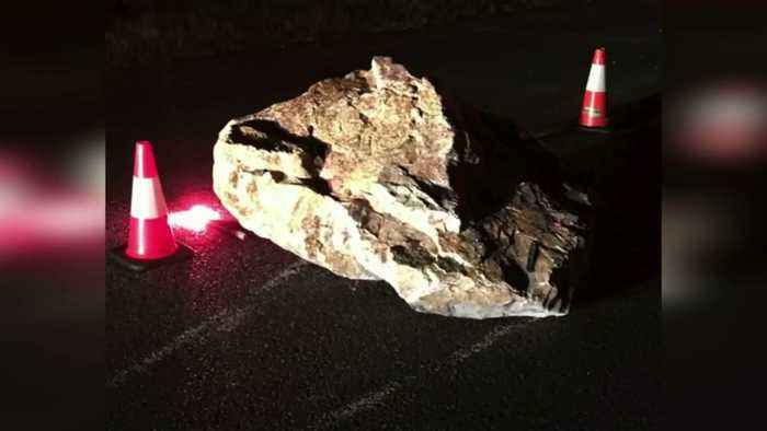 Driver Recovering in ICU After Hitting Picnic Table-Sized Boulder in Virginia