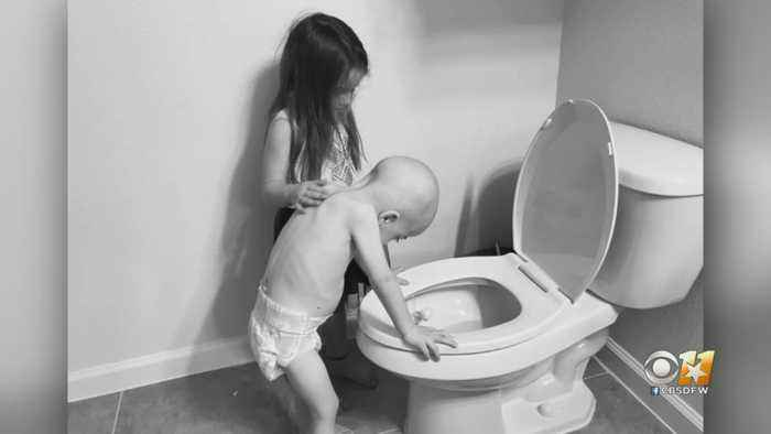 North Texas Mom Shares Heart-Wrenching Photo Of The Reality Of Pediatric Cancer