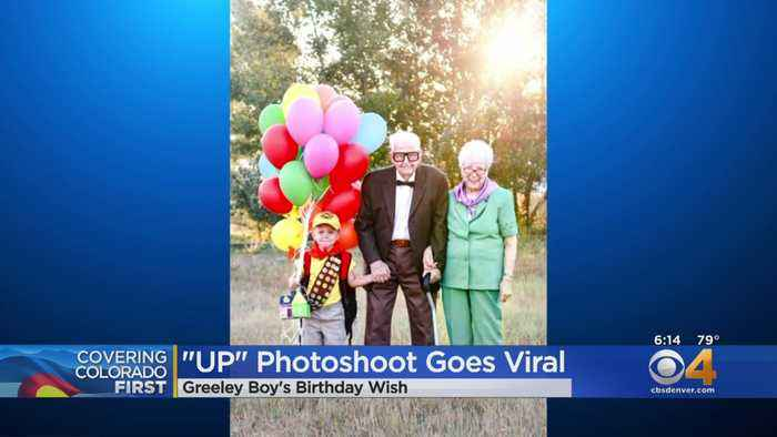 Viral Photo: Greeley Boy And Great-Grandparents Pose At 'Up'-Themed Birthday Party