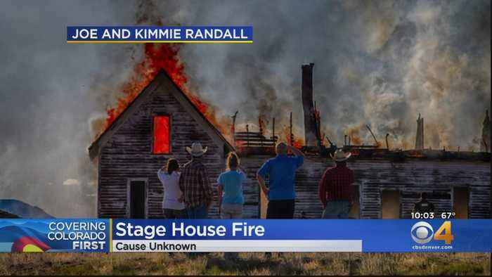 100-Year-Old Midland Stage House In South Park Burns Down