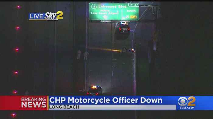 CHP Motorcycle Officer Injured On 405 Freeway In Long Beach